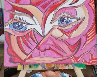 Blue eye gaze