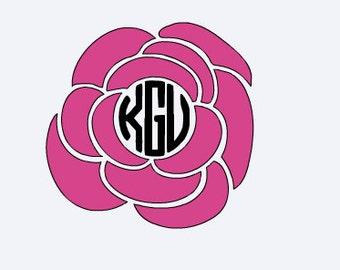 Free Shipping! Flower Monogram