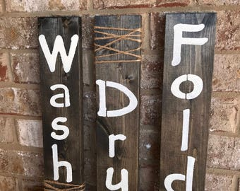 Rustic Wall Signs (set of 3)