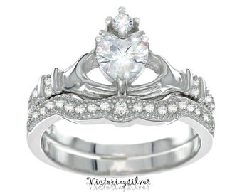 ladies bands claddagh wedding diamond set htm celtic and bridal band
