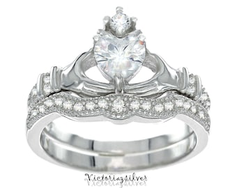 claddagh irish model mens ring wedding rings set