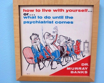 Mid Century Psychiatrist Picture - Dr Murray Banks Album - 1960s - Cool Graphics - Retro Doctor Office - LP Record
