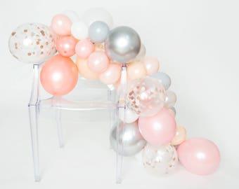 Ballon guirlande Kit - Prosecco - Blush, rose, blanc, Or Rose, Chrome argent ballon guirlande - ballons Party Chic - Blush ballons guirlandes