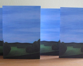 note card set : Passage - stationary set of four blank Wisconsin landscape note cards