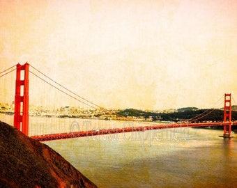 Golden Gate Bridge Photo, Bay Area Photography, San Francisco Photo Print, California Sunset, Travel Wall Art, Red Metal bridge, SF Landmark