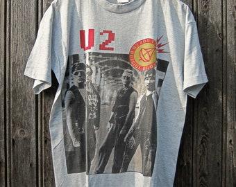 Vintage Real Rare 1993' U2 Zooropa Zoo TV European Concert Tour Shirt Tee Band Shirt Tee