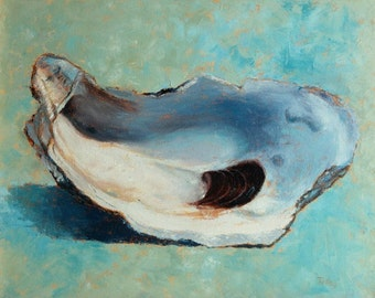 "Oyster Print of original oil painting ""Slurp!"""