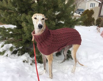 Small Greyhound Sweater, Greyhound Sweater, Greyhound Coat, Sighthound Coat, Dog Sweater, Galgo Sweater, Dog coat, Knitted Dog Sweater