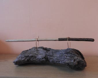 Rose wand 36cm bark on handle polished with beeswax Pagan Wicca Witchcraft ritual tool