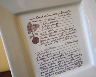 Family Recipe on a Platter--Personalized with your Favorite Recipe