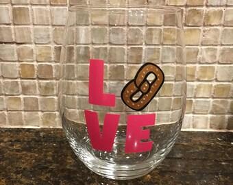 Love Wine Glass or Mason Jar - Customize