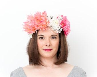 Emma; Flower Crown, Floral Crown, Festival Headpiece, Boho Wedding, Wedding Flower Crown