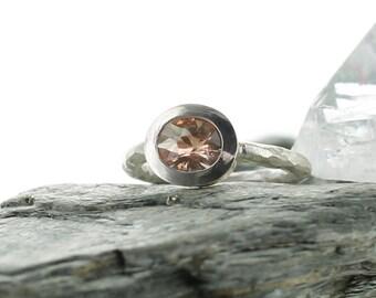 Sunstone silver ring. Size 5.5. Oregon Sunstone. Quality AAA. Gemstone ring. Solitaire Ring. Band stone ring. Orange stone ring. Uk K1/2