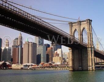 Brooklyn Bridge, New York, 8x10 Color Fine Art Print