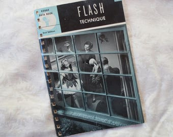1950s Flash Technique, Kodak Data Book, Vintage Photography Booklet by Eastman Kodak Company, 2nd Edition