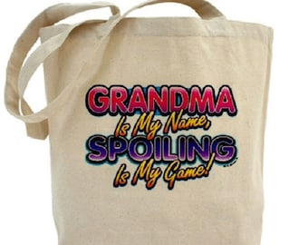 Grandma Tote - Cotton Canvas Tote Bag - Mother's Day - Gift Bag