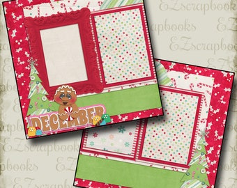 DECEMBER - 2 Premade Scrapbook Pages - EZ Layout 367