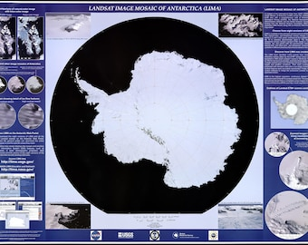 Poster, Many Sizes Available; Landsat Map Of Antarctica South Pole 2007