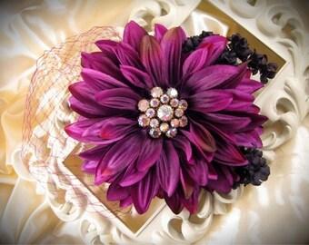 Raspberry Romance Fascinator