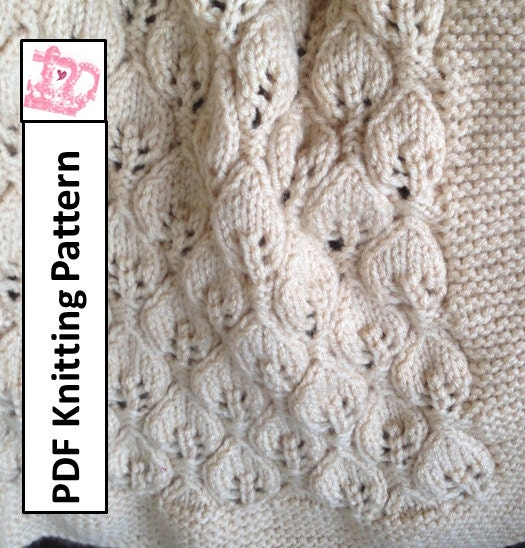 Baby Blanket Knitting Pattern Pdf Knitting Pattern Leaves
