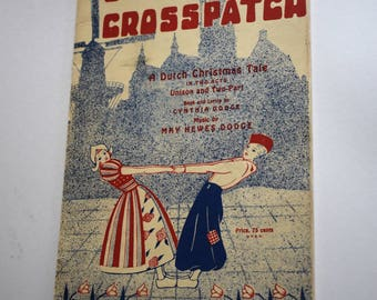 Vintage Christmas Book, Old Crosspatch