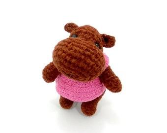 Little Hippo Amigurumi Animals jungle Hippopotamus Baby Gift Baby Shower Gift Handmade