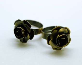 10 rings adjustable flower