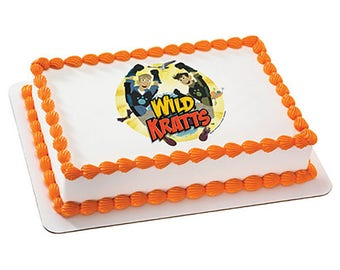 Wild Kratts Brothers Edible Cake & Cupcake Topper