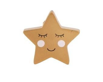 Gold Golden Smiling Star Drawer Knob Drawer Pull