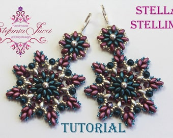 Tutorial DIY English scheme-Stella starlet-Earrings