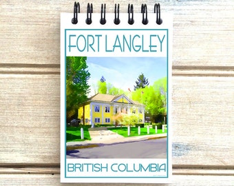 Fort Langley BC - Love This Place - Cityscape Notebook - Vancouver Canada - Notepad Custom Gift - The Jitterbug Shop