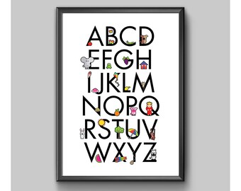 Children's Alphabet Poster No. 1