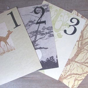 Nature Table Numbers Woodcuts by Gwen Frostic Table Nature Inspired Wedding Sold By The Page Vintage