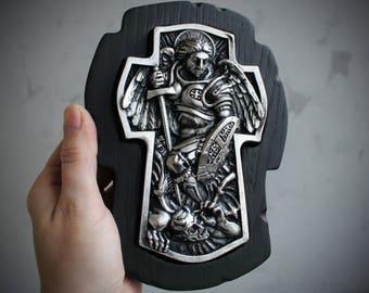 Archangel Michael Icon, St. Michael , Saint Michael Archangel, Christian Gift, Religious Gift for him, Religious Icon, Religious wall art