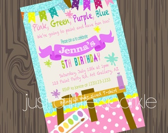 Paint Party Invitation, Art Supply party invitation, Paint Party invite, Art Party Invitation