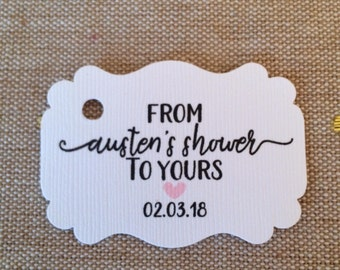 Personalized Bridal/Baby Shower Tags - from my shower to yours