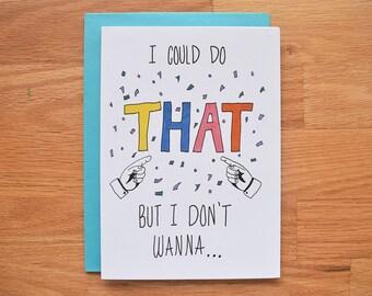 Funny congratulations card, funny new job card, funny new baby card, adoption card, funny congrats card, pregnancy congratulations card