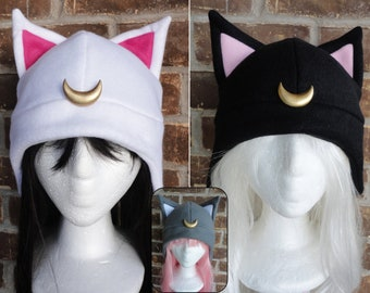 Luna, Artimus, Diana, Luna P - Sailor Moon Hat - Fleece Hat Adult, Teen, Kid - Christmas Gift, Holiday Gift, or a winter, nerdy, geek gift!