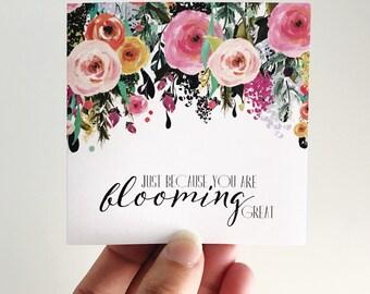 Blooming Great Mini Card