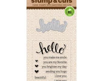 Hero Arts Stamp & Cuts - HELLO