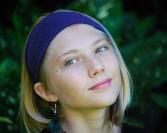 Headband - Purple - Universal Size - Organic Clothing -  Eco Friendly - Back to School