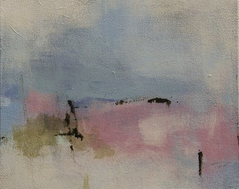 Abstract Landscape Painting, Modern Contemporary Painting, Original 16x16 Painting - West Elm artist