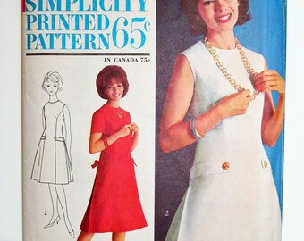 Vintage Mad Men Tailored Dress Sewing Pattern Simplicity 4944 Size 16 Bust 36