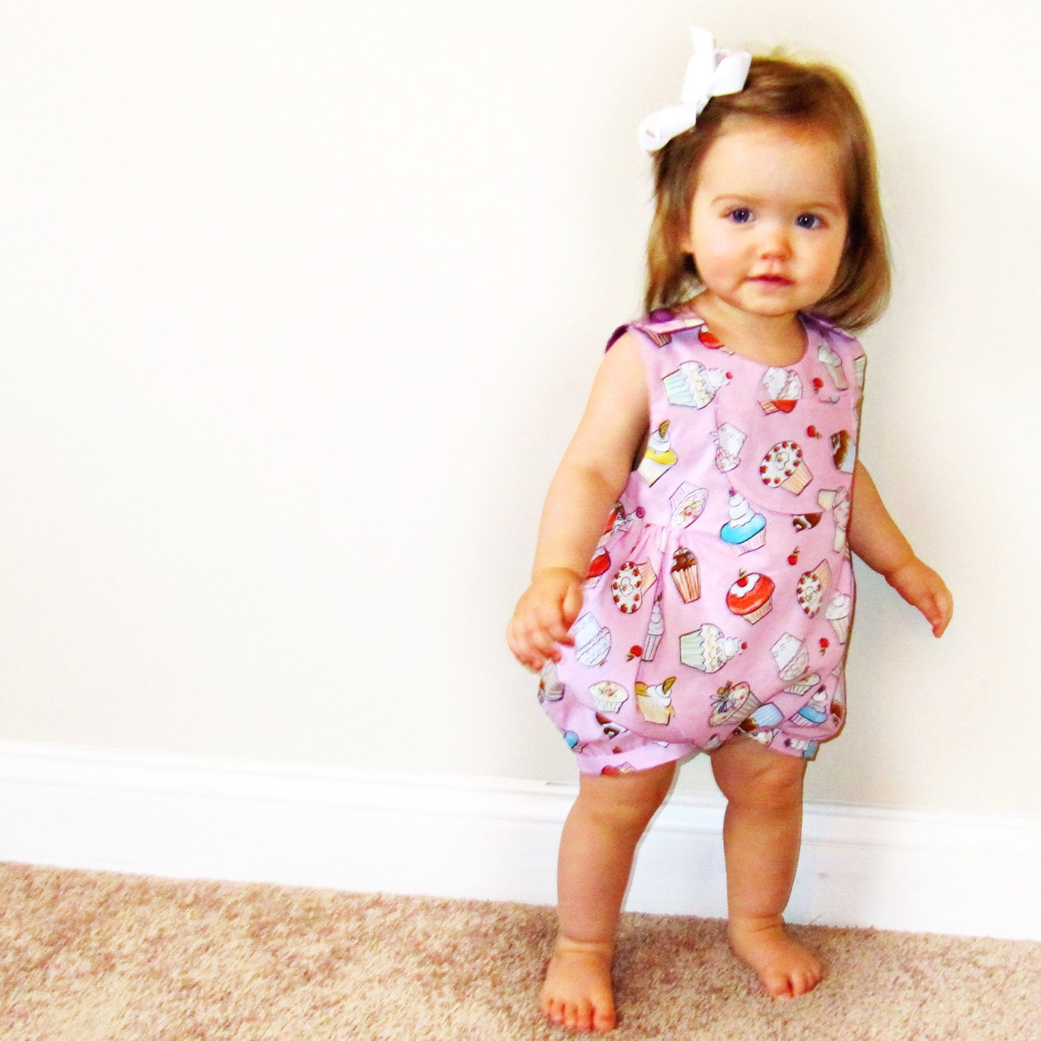 HAPPY FROG Baby Bubble Romper pattern Pdf sewing , Overall ...