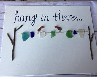 Beach glass sign