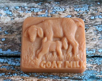 Scented Goat's Milk Soap, Goat and Kid Soap, Scented Goat Soap, Abby and Nora Soap, Goat Motif Soap, Homemade Soap, Made in Montana Soap