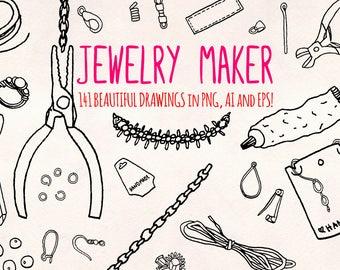 Jewellery Maker - 140+ Craft Shop Graphic Elements - Vector Graphics Bundle!