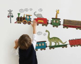 Animal Train - Peel and Stick Wall Sticker