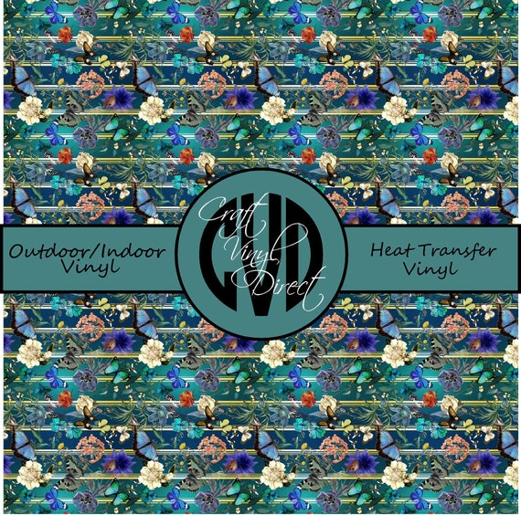 Floral Patterned Vinyl // Patterned / Printed Vinyl // Outdoor and Heat Transfer Vinyl // Pattern 751