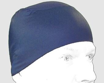 WickIt! Cool/ Dry Helmet Liner in Sapphire Blue. Stop Helmet Hair!